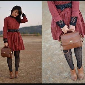 Vintage Coach leather bag Court crossbody satchel